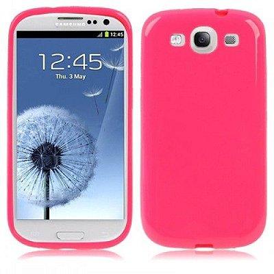 Capa Case TPU Pink Brilho para Samsung Galaxy S3