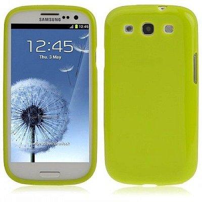 Capa Case TPU Verde Fluor Brilho para Samsung Galaxy S3