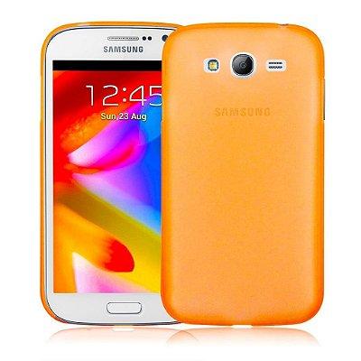 Capa Case TPU Laranja Translucido Fosco para Samsung Galaxy S3