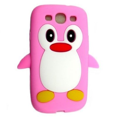 Capa Case Pinguim Rosa para Samsung Galaxy S3