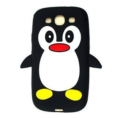 Capa Case Pinguim Preto para Samsung Galaxy S3