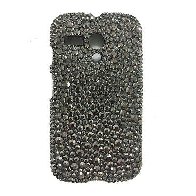 Capa Case  STRASS Preto para Motorola Moto G
