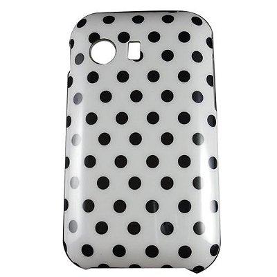 Capa Case Samsung Galaxy Y S5360 Bolinha Poá Branco e Preto