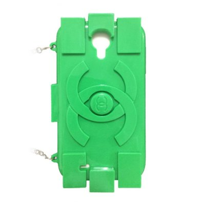 Capa Bolsa Chanel Lego Verde para Samsung Galaxy S4