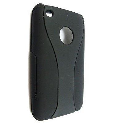 Capa Case de Super Proteção para iPhone 3 - Preto