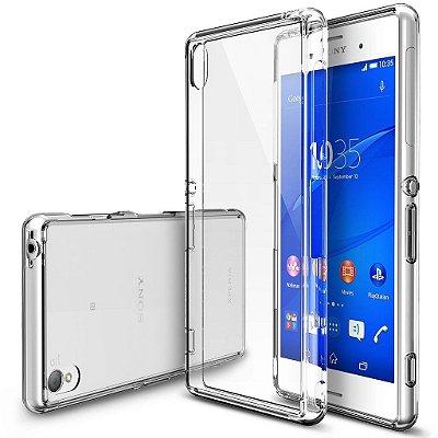 Capa Case de TPU Transparente para Sony Xperia Z3 Ultra Fina