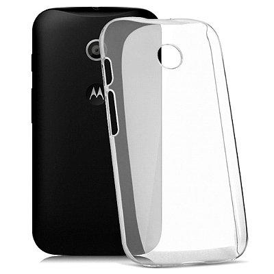 Capa Case de TPU Transparente para Motorola Moto E Ultra fina.