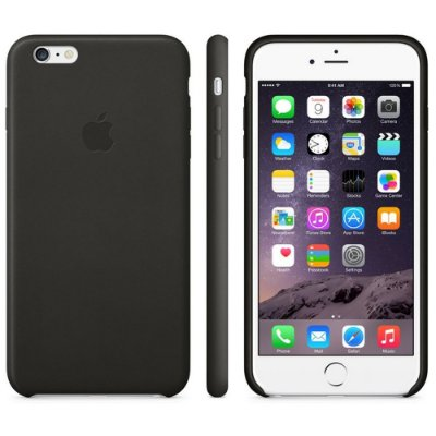 Capa Oficial Apple de couro para iPhone 6 Plus Preto