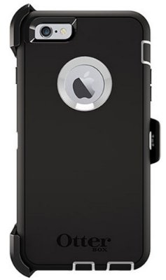 Capa Otterbox defender para iPhone 6 Plus - Preto e Branco