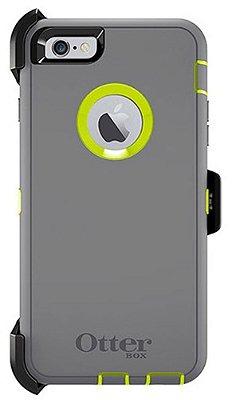 Capa Otterbox defender para iPhone 6 Plus - Cinza e Verde Limão