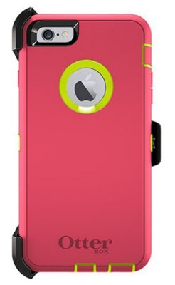 Capa Otterbox defender para iPhone 6 Plus - Rosa e Verde Limão