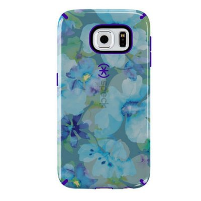 Capa Speck Candyshell Inked Aqua Floral para Galaxy S6