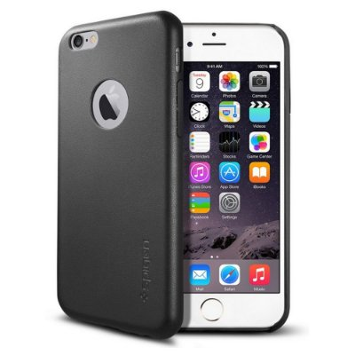 Capa SGP Spigen Leather Fit para iPhone 6 - Preto