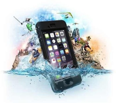 Capa a Prova DáguaLifeproof Nuud para iPhone 6 - Preto