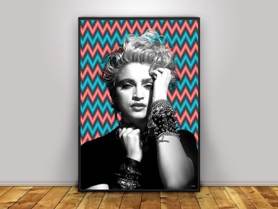Poster Madonna 80's