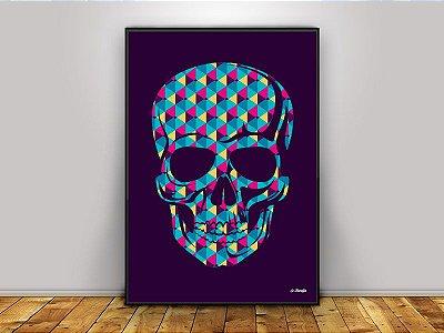 Poster Caveira Geométrica