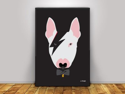 Poster Cachorro Bowie