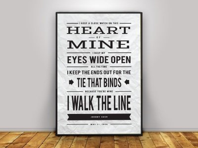 Poster Johnny Cash - I Walk the Line