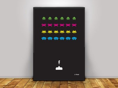 Poster Space Invaders