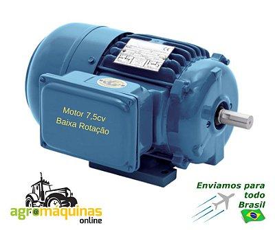 Motor Eletrico - 7,5cv- Blindado Baixa Rotacao - Bifasico