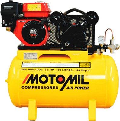 COMPRESSOR de AR A COMBUSTÃO  – CMV-10PL/100G - GASOLINA - MOTOMIL