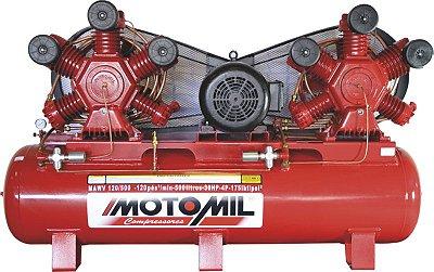 COMPRESSOR de AR INDUSTRIAL – MAWV-120/500 – CONTINUO - MOTOMIL