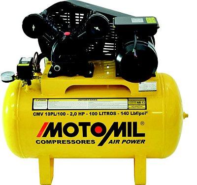 COMPRESSOR DE AR PROFISSIONAL LEVE – CMV-10PL/100 - MOTOMIL