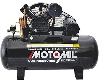 COMPRESSOR DE AR PROFISSIONAL – CMAV-20/200 - TRIFASICO - MOTOMIL