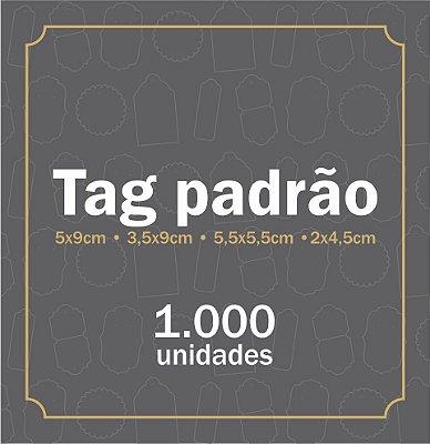 1.000 TAG PADRÃO (5 formatos disponíveis)
