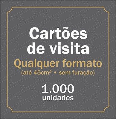 1.000 CARTÃO DE VISITA - QUALQUER FORMATO (sem furação ou vinco)