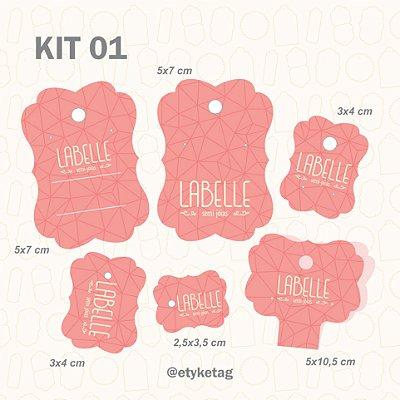 Kit Cartelas personalizadas (4 , 5 ou 6 modelos)  formato padrão