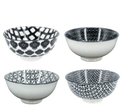 Conjunto de Bowl Black & White