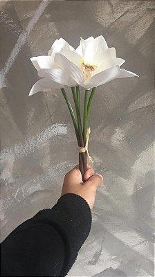 Buque Orquidea Branco