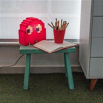 Luminária Fantasma Pacman Vermelha