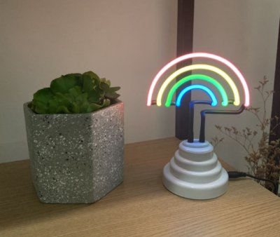 Abajur Neon arco-íris