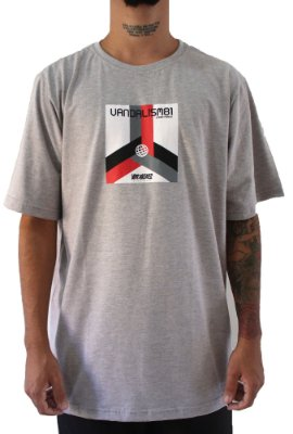 Camisa Masculina Vandalism81 Global Grey