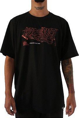Camisa Masculina Vandalism81 Black Mecha