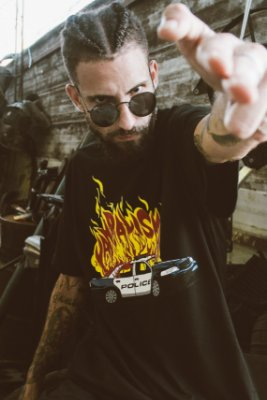 Camiseta Fire Preta