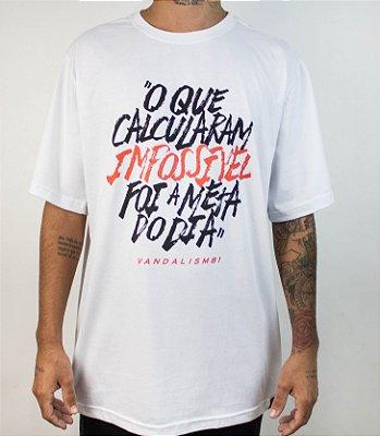 """Camiseta """"META"""" Branca"""