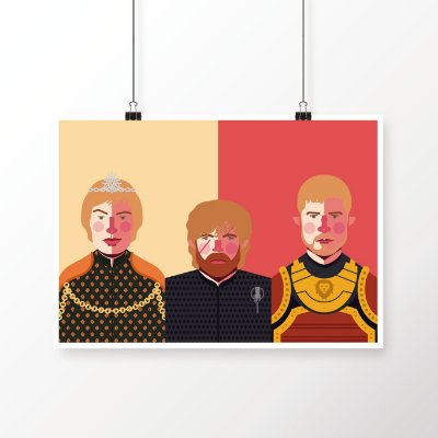 [poster] Família Lannister - Game of Thrones