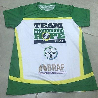 BabyLook Running - Uniforme Team PH Brasil - Personalizada - Feminina