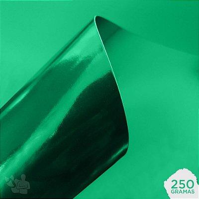 Papel Laminado - Lamicote - Verde Escuro - 250g - A4 - 210x297mm