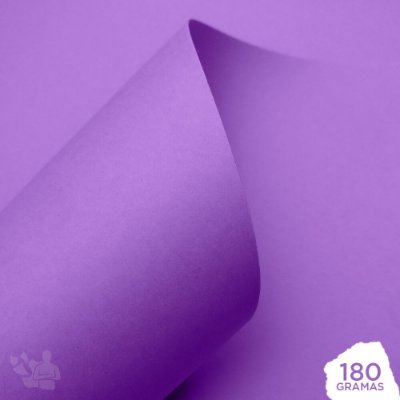 Papel Color Pop - Mimo - Roxo Candy - 180g - 30,5x30,5cm