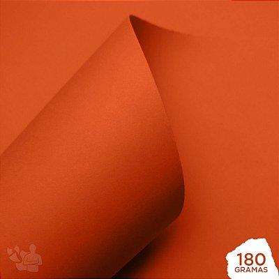 Papel Color Pop - Mimo - Laranja Puro - 180g - 30,5x30,5cm