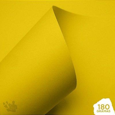 Papel Color Pop - Mimo - Amarelo Sol - 180g - 30,5x30,5cm