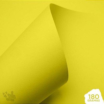 Papel Color Pop - Mimo - Amarelo Candy - 180g - 30,5x30,5cm