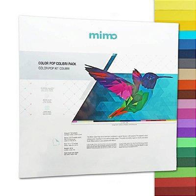 Papel Color Pop - Mimo - Kit Colibri - 180g - 30,5x30,5cm