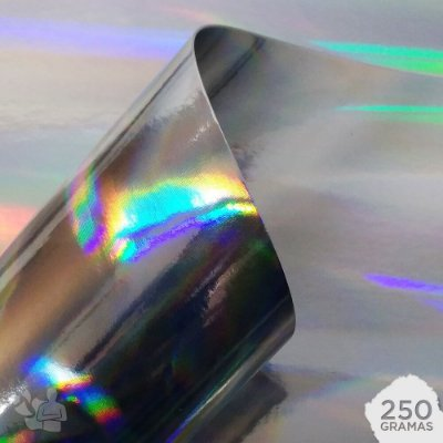 Papel Laminado - Lamicote - Holográfico - Pilares de Luz - 250g - A4 - 210x297mm