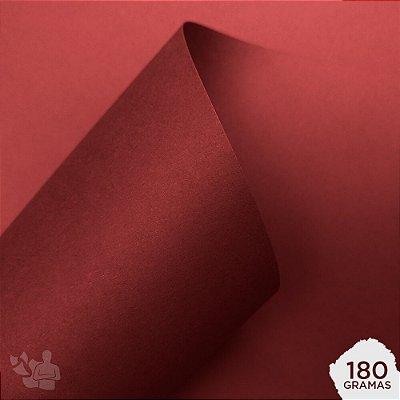 Papel Color Plus - Pequim - Vermelho Escuro - 180g - A4 - 210x297mm