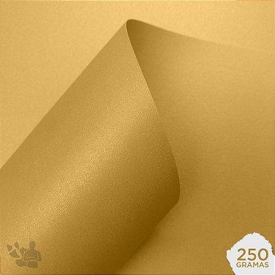 Papel Color Pop Luminous - Mimo - Ouro - 250g - 30,5x30,5cm
